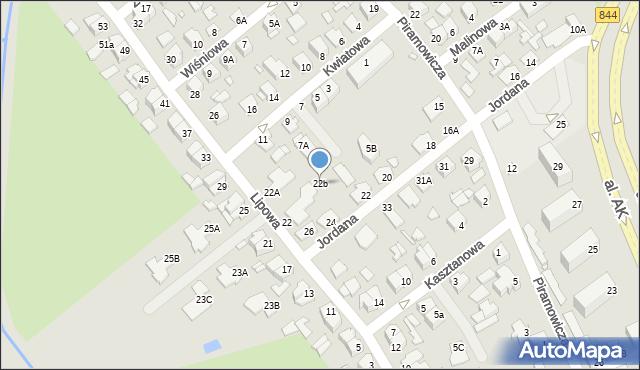 Chełm, Lipowa, 22b, mapa Chełma