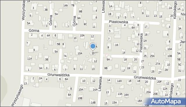 Chełm, Litewska, 10, mapa Chełma