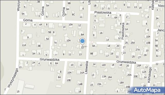 Chełm, Litewska, 12, mapa Chełma