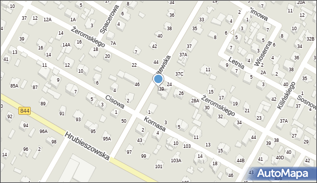 Chełm, Litewska, 39A, mapa Chełma