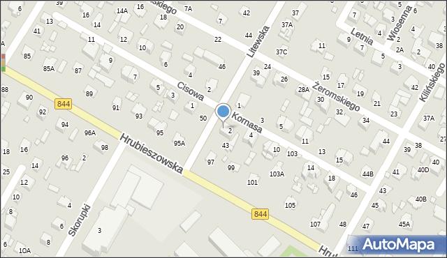 Chełm, Litewska, 41, mapa Chełma