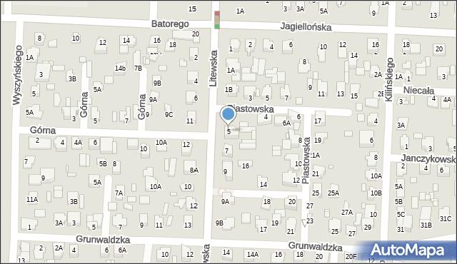 Chełm, Litewska, 5, mapa Chełma