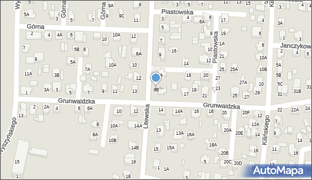 Chełm, Litewska, 9B, mapa Chełma