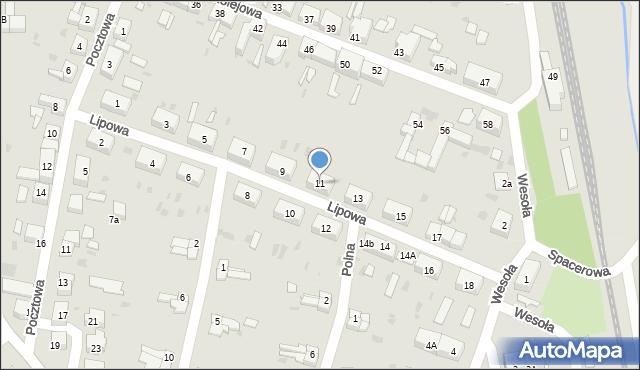 Chocianów, Lipowa, 11, mapa Chocianów