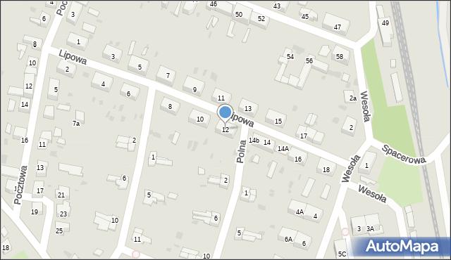 Chocianów, Lipowa, 12, mapa Chocianów