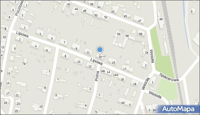 Chocianów, Lipowa, 13, mapa Chocianów