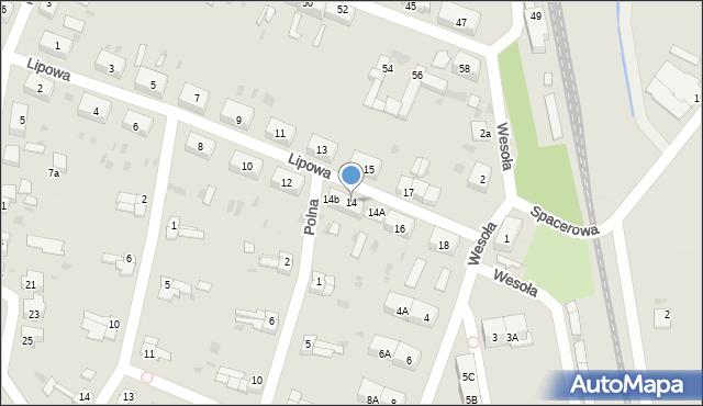 Chocianów, Lipowa, 14, mapa Chocianów