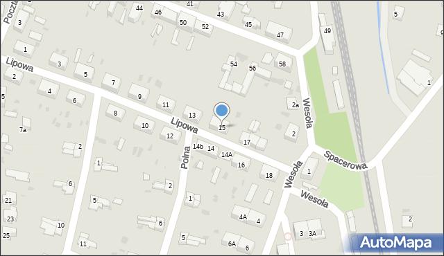 Chocianów, Lipowa, 15, mapa Chocianów