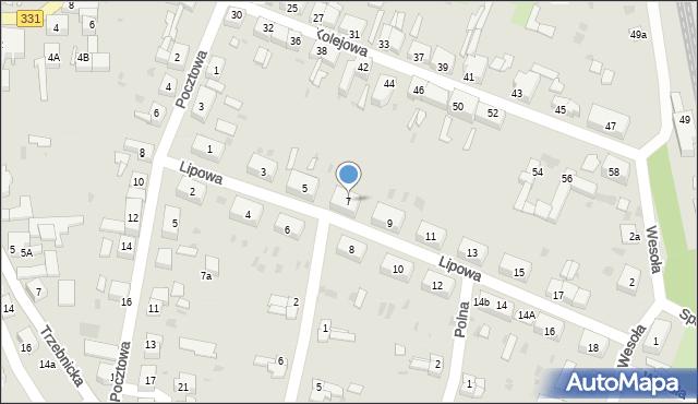 Chocianów, Lipowa, 7, mapa Chocianów