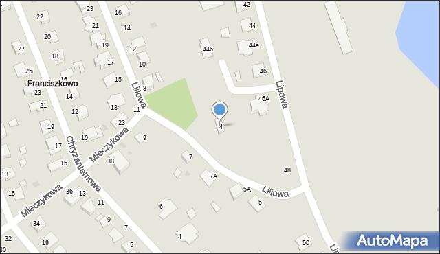 Grudziądz, Liliowa, 4, mapa Grudziądza