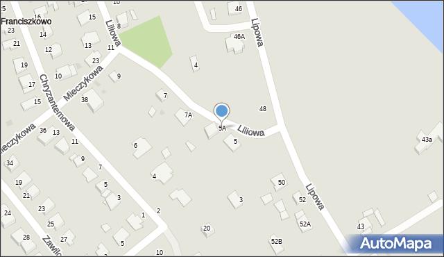 Grudziądz, Liliowa, 5A, mapa Grudziądza