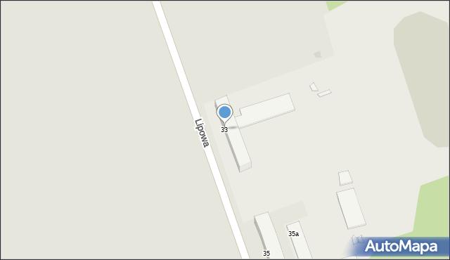 Grudziądz, Lipowa, 33, mapa Grudziądza