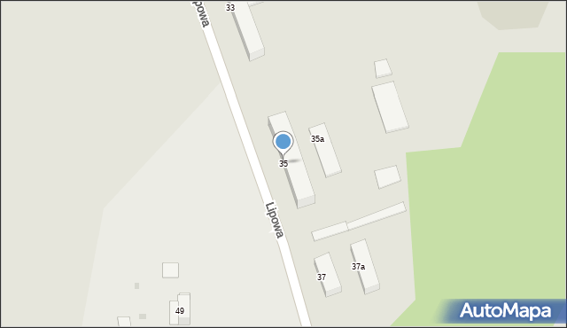 Grudziądz, Lipowa, 35, mapa Grudziądza