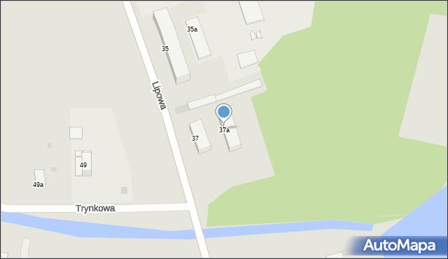 Grudziądz, Lipowa, 37a, mapa Grudziądza