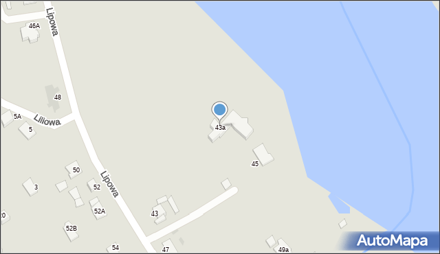 Grudziądz, Lipowa, 43a, mapa Grudziądza