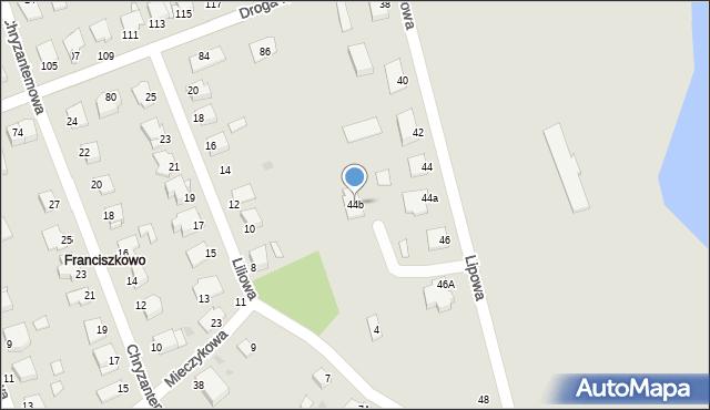 Grudziądz, Lipowa, 44b, mapa Grudziądza