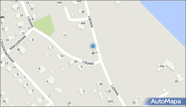 Grudziądz, Lipowa, 48, mapa Grudziądza