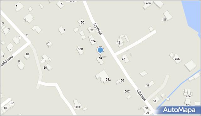 Grudziądz, Lipowa, 54, mapa Grudziądza