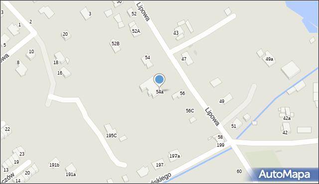 Grudziądz, Lipowa, 54a, mapa Grudziądza