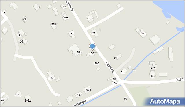 Grudziądz, Lipowa, 56, mapa Grudziądza