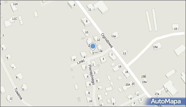Kętrzyn, Linki Bogumiła, 2, mapa Kętrzyn