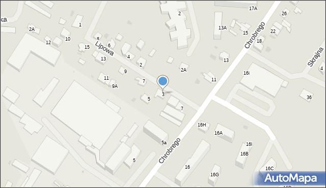 Kętrzyn, Lipowa, 3, mapa Kętrzyn