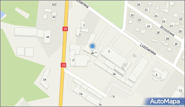 Kurzętnik, Lidzbarska, 1a, mapa Kurzętnik