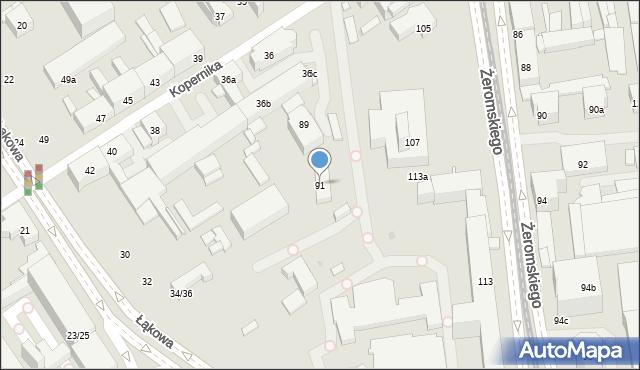 Łódź, Lipowa, 91, mapa Łodzi