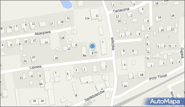 Luzino, Lipowa, 6, mapa Luzino