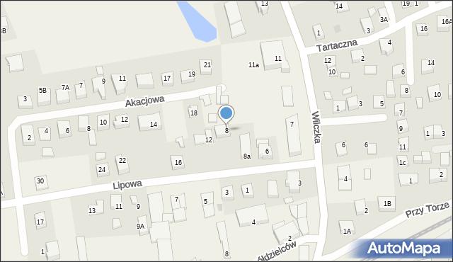 Luzino, Lipowa, 8, mapa Luzino