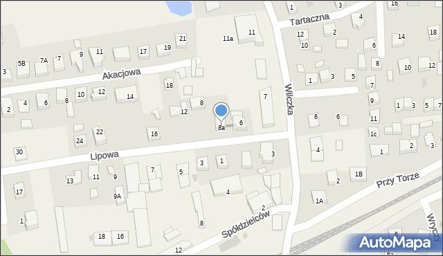 Luzino, Lipowa, 8a, mapa Luzino