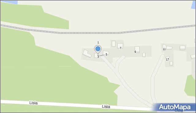 Mała Nieszawka, Lisia, 3, mapa Mała Nieszawka