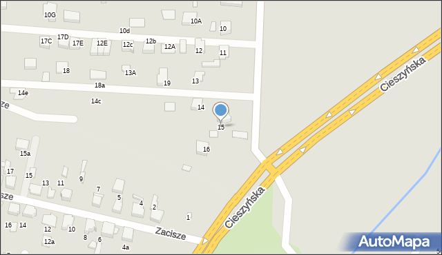 Mikołów, Lipcowa, 15, mapa Mikołów