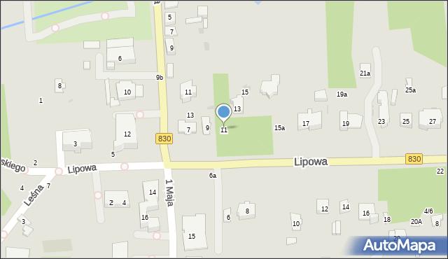 Nałęczów, Lipowa, 11, mapa Nałęczów