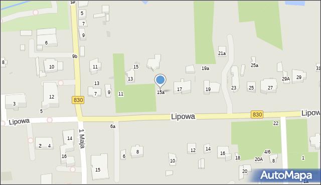 Nałęczów, Lipowa, 15a, mapa Nałęczów