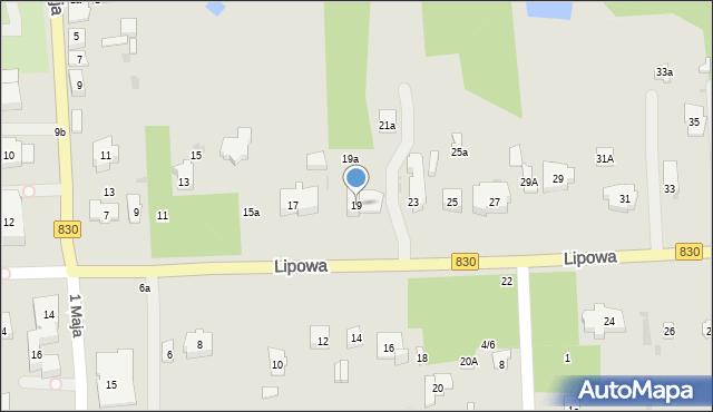 Nałęczów, Lipowa, 19, mapa Nałęczów