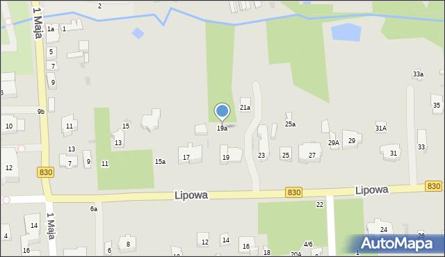 Nałęczów, Lipowa, 19a, mapa Nałęczów