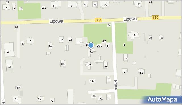 Nałęczów, Lipowa, 20, mapa Nałęczów