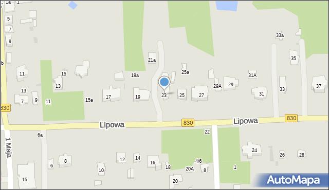 Nałęczów, Lipowa, 23, mapa Nałęczów
