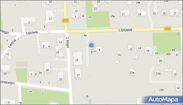 Nałęczów, Lipowa, 6, mapa Nałęczów