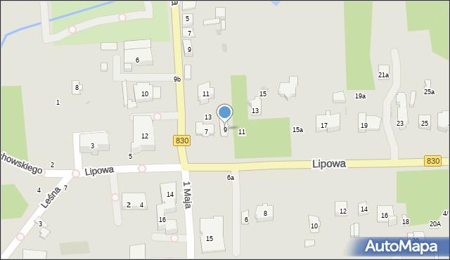 Nałęczów, Lipowa, 9, mapa Nałęczów