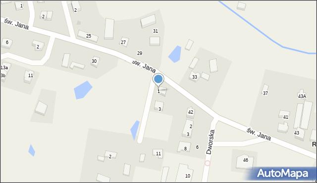 Robakowo, Lipowa, 1, mapa Robakowo