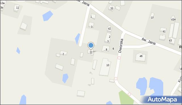 Robakowo, Lipowa, 11, mapa Robakowo