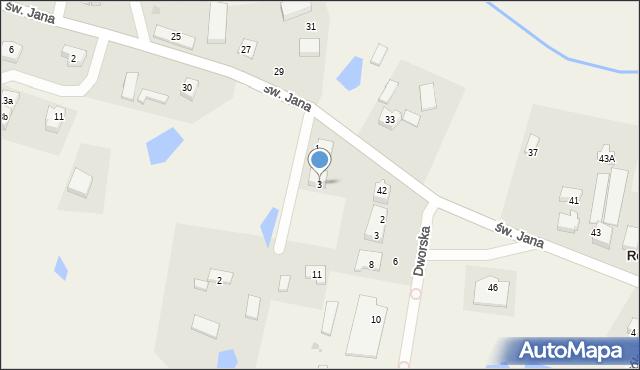 Robakowo, Lipowa, 3, mapa Robakowo