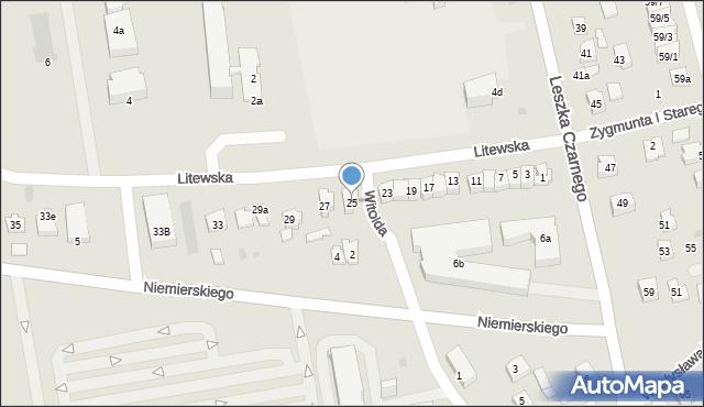 Rzeszów, Litewska, 25, mapa Rzeszów