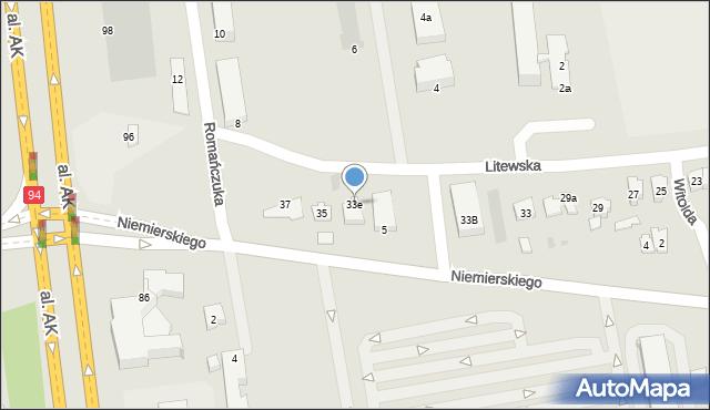 Rzeszów, Litewska, 33e, mapa Rzeszów