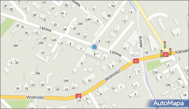 Sokołów Podlaski, Lipowa, 5, mapa Sokołów Podlaski
