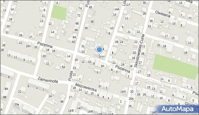 Sosnowiec, Lisia, 2, mapa Sosnowca