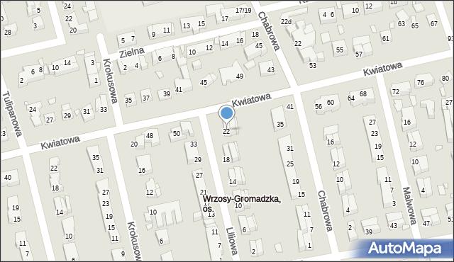 Toruń, Liliowa, 22, mapa Torunia