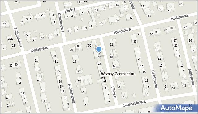 Toruń, Liliowa, 29, mapa Torunia
